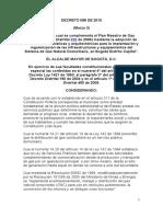 Decreto 088 de 2010 Condiciones de Diseño Urbanistico de Erm en Ciudad