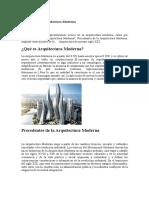 Generalidades Arquitectura Moderna