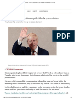 Brexiters at War as Boris Johnson Pulls Bid to Be Prime Minister — FT