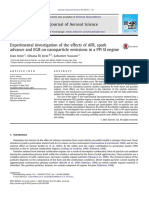 Effects of AFR, Spark Advance and Egr on Nanoparticle Emissions