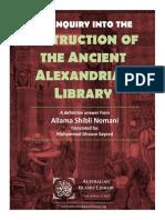 An Enquiry in to the Destruction of the Grand Alexanderian Library - Allama Shibli Nomani