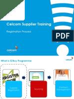 Celcom Supplier Training Manual - Self Registration Process