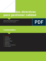 Habilidades Directivas Para Gestionar Calidad