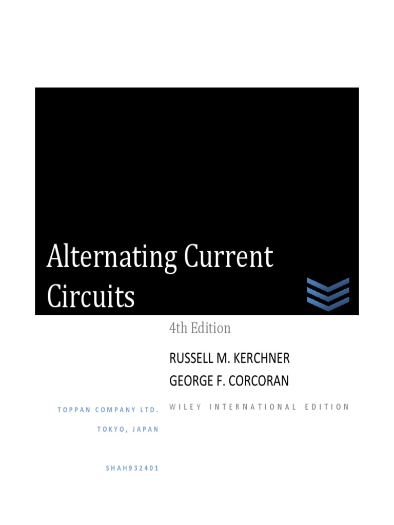 alternating current circuits kerchner corcoran