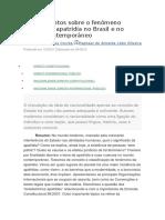 Apontamentos Sobre o Fenômeno Jurídico Da Apatridia No Brasil e No Mundo Contemporâneo