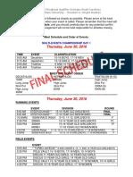 AAU Region 8 Qualifier Schedule