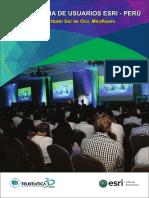 Agenda Conferencia de Usuarios Esri 2016