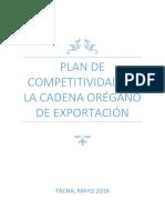 Estructura DeESTRUCTURA DEL PLAN DE COMPETITIVIDAD PRODUCTIVA POR CADENA PRODUCTIVA DE OREGANO.pdfl Plan de Competitividad Productiva Por Cadena Productiva de Oregano