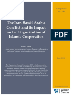 The Iran-Saudi Arabia Conflict and Its Impact on the Organization of Islamic Cooperation