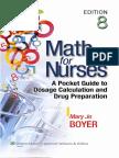 Math for Nurses A Pocket Guide to Dosage Calculation and Drug Preparation .2013 - cd (1).pdf