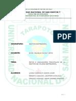 Retos e Indicadores Principales de La Gestion de Calidad Empresarial Informe