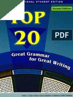 Top 20 - Great Grammar fTop 20 - Great Grammar for Great Writingor Great Writing