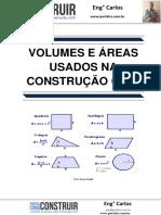 Volume e Áreas usados na Construção Civil