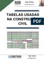 Tabelas usadas na Construção Civil