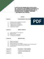 Incorporacion de Software Educativo en El Aprendizaje Del Conjunto de Numeros Enteros