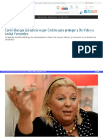 Http Www Losandes Com Ar Article Carrio Dice Que La Justicia Va Por Cristina Para Proteger a de Vido y a Anibal Fernandez