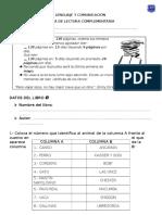 Lenguaje y Comunicación - Ficha de Lectura Complementaria - 6to Básico - El Chupacabras de Pirque