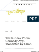 Gennady Aygi (the POET WHO is COMPARED to CELAN)-English Translation - Some Poems