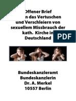 Open Letter to Dr. Angela Merkel, Chancelor of Germany