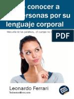 Como Conocer a Las Personas Por Su Lenguaje Corporal