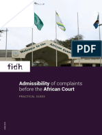 Admissibility of Complaints Before the African Court