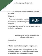 Evaluation Des Risques Professionnels Diaporama