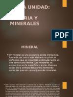 Materia y Minerales