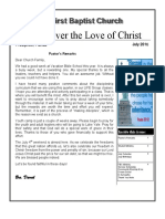Discover the Love of Christ/July 2016