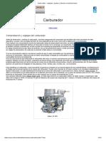 Carburador - Reglajes, Ajustes y Demas Consideraciones