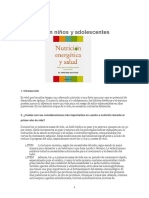 Nutrición en Niños y Adolescentes