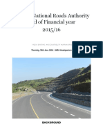 Uganda National Roads Authority End of Financial Year 2015-16