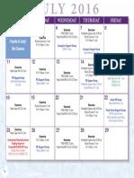 Parkinson Calendars Summer 2016