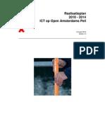 Realisatieplan 2010 - 2014 ICT op Open Amsterdams Peil