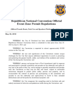 Pre-Modification RNC Official Event Zone Permit Regulations