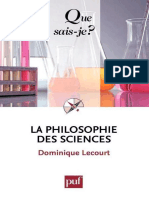Dominique Lecourt-La Philosophie Des Sciences-Presses Universitaires de France - PUF (2010)