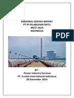 Personal Service Report Swro Pt. Ip Pelabuhan Ratu '28des15