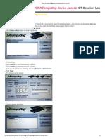How to Setup M300 NComputing Device Access