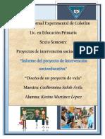 Informe de Proyecto de Intervención Socioeducativa