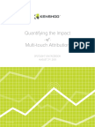 Kenshoo Whitepaper Quantifying the Impact of Multi Touch Attribution