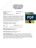 samantha leary golf resume