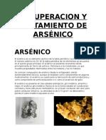 Recuperacion y Tratamiento de Arsenico