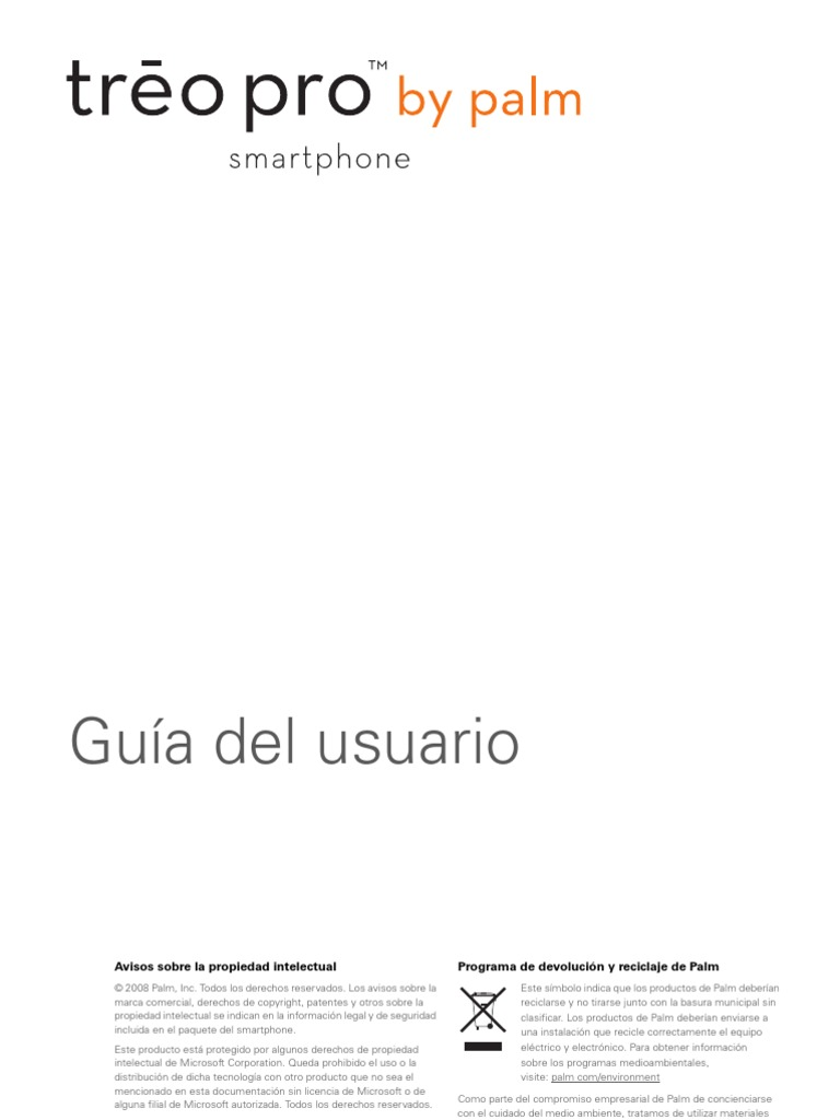 Manual Palm Treo Pro Es