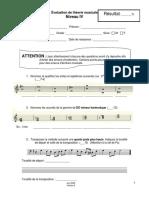 Examen de théorie musicale niv 4 - V6
