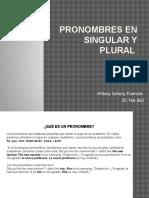 Pronombres en Singular y Plural