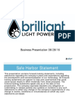 Brilliant Light Powers Tech Business Presentation 06-28-16