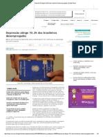 Depressão Atinge 10,2% Dos Brasileiros Desempregados _ Saúde Plena