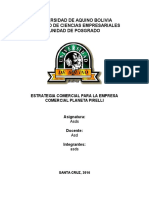 Estrategia Comercial Planeta Pirelli