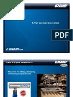 exair - e-vac vacuum generators presenation