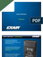 exair - static eliminator cleaning training presentation