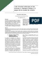 Calculo del volumen vehicular en las intersecciones Jr. Mariano Núñez y Jr. Moquegua de la ciudad de Juliaca